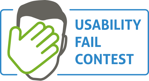 Usability Fail Contest 2016